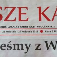 """Pierwszy numer tygodnika """"Nasze Kąty"""" już w kioskach"""