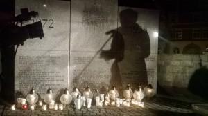 Pomnik na ulicy Łąkowej.