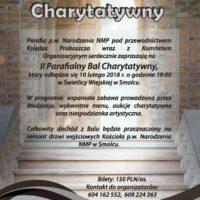 Zaproszenie na II Parafialny Bal Charytatywny
