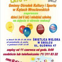 """GOKiS Kąty Wrocławskie zaprasza dzieci i młodzież na """"LATO W SMOLCU"""""""