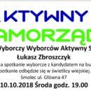 Spotkanie wyborcze z kandydatem na burmistrza Łukaszem Zbroszczykiem 10.10. (środa) godz. 19:00