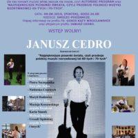Koncert Janusza Cedro na żywo z największymi polskimi przebojami już w ten piątek o godz. 20:00 na Podzamczu