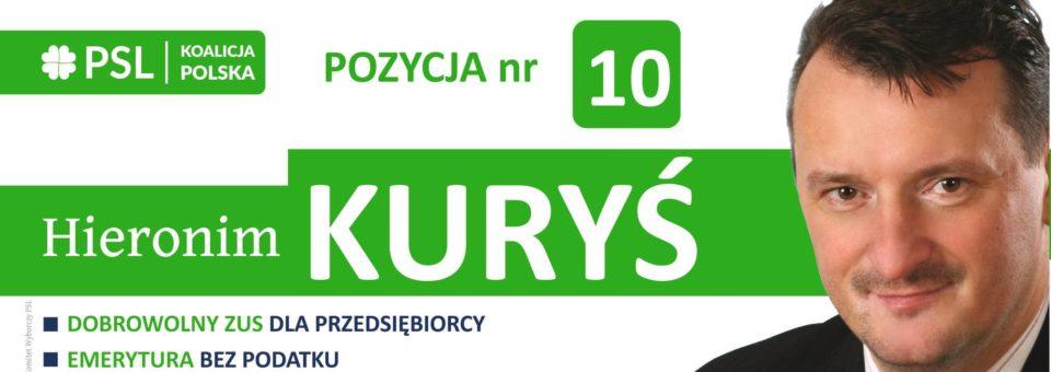 Hieronim Kuryś – przebojowy kandydat do Sejmu