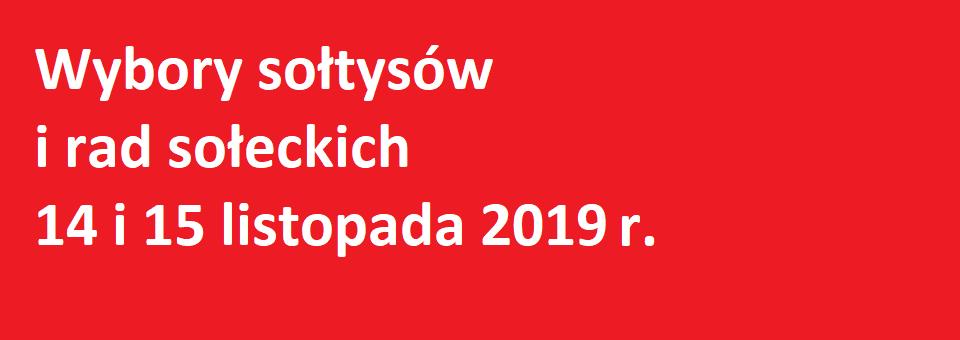 Wybory sołtysa oraz rad sołeckich już w najbliższy czwartek 14 i piątek 15 listopada