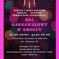 Zaproszenie na Bal Karnawałowy już 22 lutego