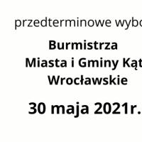 Kandydaci na urząd burmistrza Miasta I Gminy Kąty Wrocławskie – przedterminowe wybory 13 czerwca 2021
